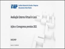 INEP libera os slides utilizados na apresentação ocorrida no dia 09/04