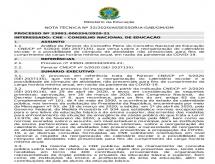 Nota Técnica n° 32 do Ministério da Educação que homologa parcialmente sobre reestruturação dos Calendários Acadêmicos