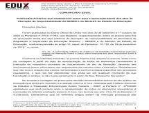 A EDUX Consultoria emite informe sobre as Portarias que estabelecem prazo para aprovação tácita dos atos de liberação da SERES/MEC