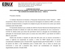 A EDUX Consultoria emite informe com esclarecimentos sobre a colação de grau dos estudantes de cursos do ENADE 2020