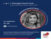 Unicarioca homenageará a Diretora Técnica da ABRAFI, Dra. Iara de Xavier, ao título de Professora Honoris Causa