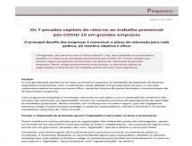 Artigo aponta os 7 pecados capitais do retorno ao trabalho presencial pós-COVID-19 em grandes empresas