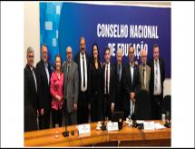 Presidente da ABRAFI, professor Edgard Larry, participou em encontro do FÓRUM com CNE em Brasília.