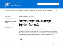 INEP divulga resultados do Censo do Ensino Superior de 2019