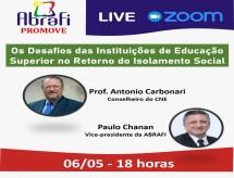 A ABRAFI promoveu live com Conselheiro do CNE. Assista!