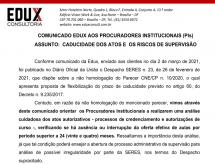 A EDUX Consultoria emite comunicado aos Procuradores Institucionais (PIs) sobre a caducidade dos atos e os riscos de Supervisão
