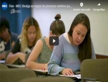 MEC divulga regras do processo seletivo para o segundo semestre